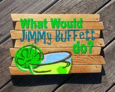 Warning we play Jimmy Buffet Music Key West sign by MookieWoodArt Pool Signs, Beach Signs, Tiki Bar Signs, Patio Signs, Painted Signs, Wooden Signs, Hand Painted, Painted Rocks, Tiki Bar Decor