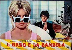L'ours et la poupee (The Bear & The Doll) Italian fotobusta poster. Brigitte Bardot