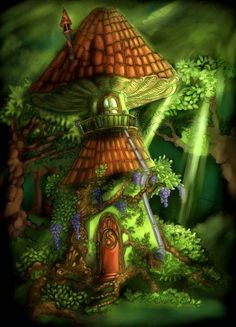 Mushroom house by ~GabrieleRivolta