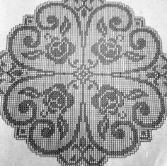 Crochet Diagram, Filet Crochet, Crochet Doilies, Embroidery Patterns, Crochet Patterns, Galleries, Design, Tray Tables, Crochet Edgings