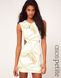 So very pretty. I love the chain print detail and the cutouts.