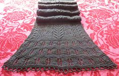 Knit Lace Scarf Ravelry pattern for sale