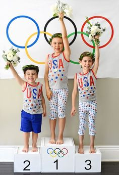 Get into the spirit of the games! You guys, this is the most awesome Olympics-themed kids party ever. What are you waiting for? Let's celebrate!