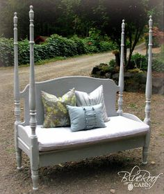 Four Poster Headboard Bench