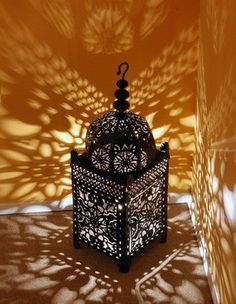 Lámpara estilo marroquí con velas o con lámpara de sal de Himalaya
