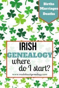 Where Do I Start With Irish Genealogy? This is a regular family history question. Irish genealogy is said to be problematic, but it doesn't have to be. You simply start at the beginning of your family history and work your way backward through generations - so much Irish family history data is now online. It's great!