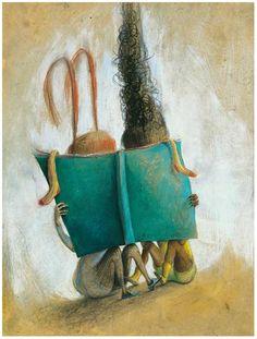http://bibliolectors.tumblr.com  Who's behind this book? / Quién hay detrás de este libro? (ilustración de Eva Montanari)