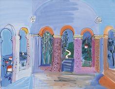 Raoul Dufy 1877 - 1953 LA TERRASSE AUX ARCADES À VALLAURIS