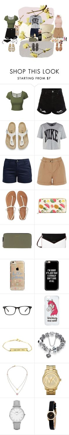 """pamper day (3 sisters)"" by cid-paradero on Polyvore featuring LE3NO, New Look, Birkenstock, NIKE, Barbour, Oasis, Aéropostale, Marc Jacobs, Lodis and Agent 18"