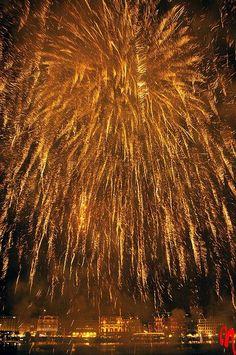 Hamburg.Fireworks