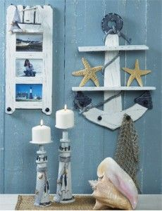 Nautical theme for guest bathroom. Can't be sad when you think you're by the ocean!