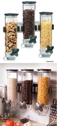 Food Storage Containers 20655: 13Oz Wall Mount Triple Dry-Food Cereal Dispenser Portion Control Smartspace -> BUY IT NOW ONLY: $65.97 on eBay!