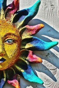 Sun Moon Stars, Sun And Stars, The Sun, Tarot By Cecelia, Good Day Sunshine, Illustration Vector, Sun Designs, Sun Art, Paperclay