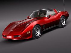 """1980 Corvette (*I would like one in a deep dark red/purple """"Merlot Wine"""" color with garnet red inside_LL)."""