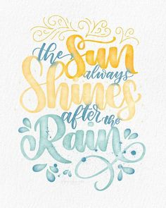 Brush lettering quotes - Handlettering und Aquarell - Home Brush Lettering Quotes, Watercolor Lettering, Hand Lettering Art, Watercolor Quote, Lettering Ideas, Lettering Tutorial, Lettering Styles, Lettering Design, Sun Quote