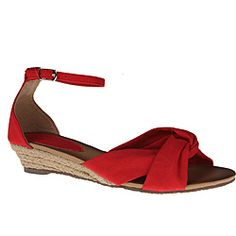 @Overstock - These cute sandals from Refresh by Beston are a mini version of the classic espadrille. Twisted and tied canvas uppers are set off by rope-wrapped 1-inch wedge heels and finished with delicate ankle straps on these sweet sandals.  http://www.overstock.com/Clothing-Shoes/Refresh-by-Beston-Womens-ZOE-02-Red-Mini-Espadrilles/6573172/product.html?CID=214117 $34.09