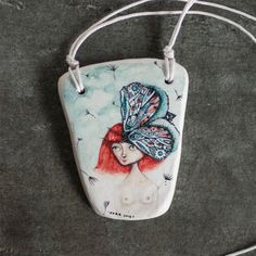 Clay necklace by Norvile Dovidonyte of Nora Illustration