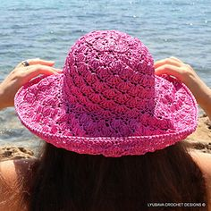 Crochet Summer Hat Pattern Instant Download PDF file.