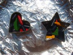 Sun Melted Recycled Crayons - what to do with broken crayons and science lesson!