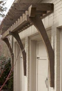 pergola front porch tudor - Google Search