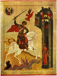 icons of novgorod and Pskov - Поиск St George the Dragon Slayer