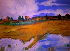 Fall in Maine. Acrylics on canvas.