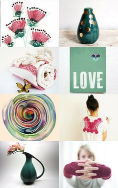 Monday with Love by Irina Wardas on Etsy- #pink #green #gifts #fineart #decor #jewelry #women