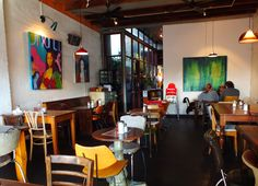 I love the Gallery Cafe in Annandale, Sydney. Good food, good coffee and good atmosphere.