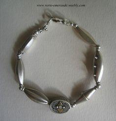 Bracelet, Anciennes Perles d'Argent. Afghanistan Antique Silver Beads Bracelet. #Ethnique