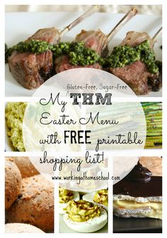 Gluten-Free, Sugar-Free, THM (S) Easter Menu with free printable shopping list!