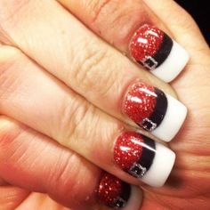 Santa Claus Nail Art Designs – Christmas Nail Art from Pinterest