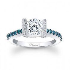 Blue Diamond Engagement Ring ~ nice!