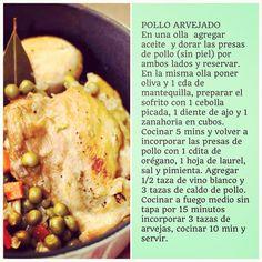 Pollo Arvejado #ComidaCasera
