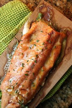 Recipe For Roasted Salmon With Maple-Mustard Glaze