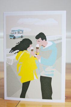 Icecream Greeting Card by ursula celano