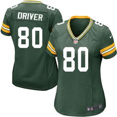 Women's Green Nike Elite Green Bay Packers #80 Donald Driver Team Color NFL Jersey$109.99