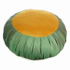 Zafu Yoga & Meditation Cushion, Yellow & Green