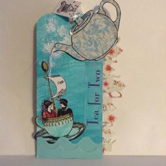 Tag Swap using Character Construction Stamp:  Mannequin Cafe' No. 15 with the theme: Tea for Two by Sue Whittemore