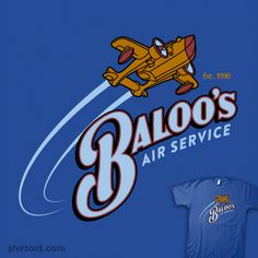 Baloo's Air Service. for my inner Rebecca, since she was my first official character...