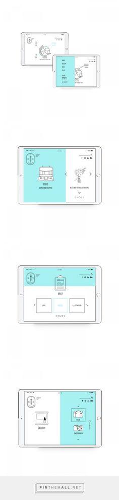 UI Design - Graphic Designer - Christina Filippou on Behance - created via https://pinthemall.net