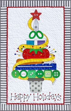 PRE-ORDER SPECIAL: Holiday Sewing Tree quilt sewing pattern by Amy Bradley Designs--Offer expires Tuesday, at ET. Order NOW for best price, we ship as soon as our supply arrives (ETA Christmas Sewing Projects, Christmas Quilt Patterns, Christmas Crafts, Christmas Things, Christmas Holiday, Christmas Ideas, Small Quilts, Mini Quilts, Easy Quilts