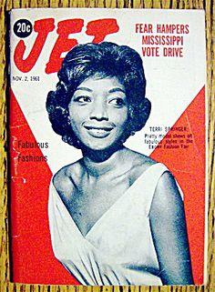 Ebony Magazine Cover 1961 | Jet Magazine November 2, 1961 Terri Springer (Ebony/Jet) at A Date In ...