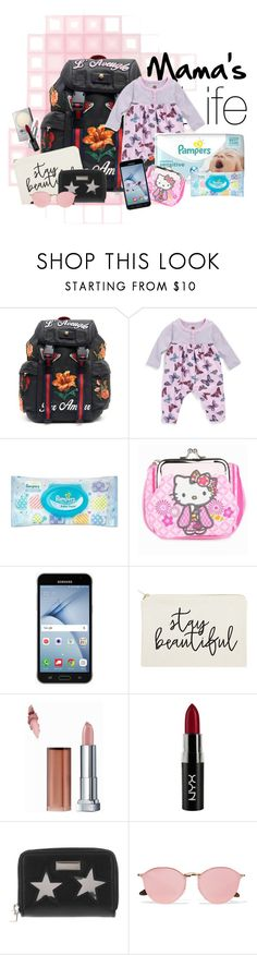 """What's in mom's bag?"" by memevianti on Polyvore featuring Gucci, Tea Collection, Hello Kitty, Samsung, Revlon, NYX, STELLA McCARTNEY, Ray-Ban, REVLON and Maybelline"