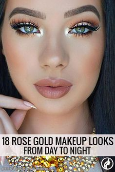 You need to try this charming rose gold makeup ideas.