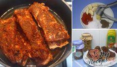 Pečený bůček v česnekové marinádě | NejRecept.cz Bucky, Hamburger, Catering, French Toast, Pork, Treats, Cooking, Breakfast, Health