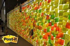 Un muro lleno de notas y anotaciones. Pero ya es viernes, viene el fin de semana para descansar!!! Feliz fin de semana, recarga energías!! :)