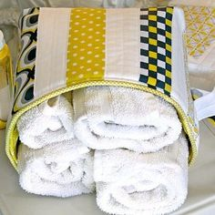 Citron Gray Quilted Basket