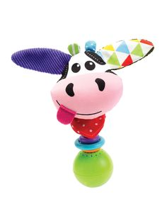 "Yookidoo's new ""Shake Me Rattle"" Cow.. Shake it for sound effects and fun music!  Battery Operated."