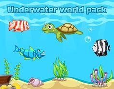 "Check out new work on my @Behance portfolio: ""Underwater World Pack"" http://be.net/gallery/50653011/Underwater-World-Pack"