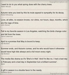 Famous quotes about Seasons - learn English,quotes